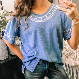 Opal embellished + embroidered blouse